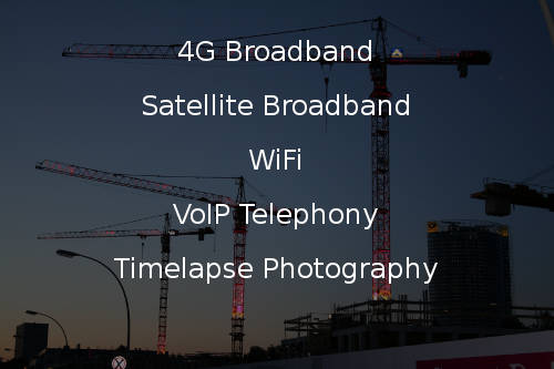 Construction site 4G Broadband, VoIP and Timelapse services