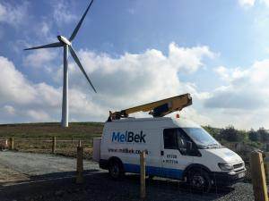 4G wind farm van mounted MEWP