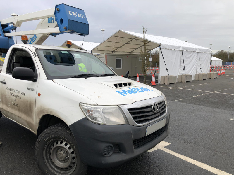 4G broadband for COVID-19 mobile testing centre